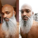 Decembeard 2015 : My barber was booked to hell up so I did it ma damn self! Kashia chipped in too!  #stillgotskill #selfbarber  #noexcuses #helpyourself  #Decembeard  #silverbeard over silver bells!  #BeardLife #BeardUp #BeardOn  #CleanCrown (thanks kashia lol) #BeardIslandGang #TheBIGbrand #TheBeardedOnes #Barbados by @iamrhaj